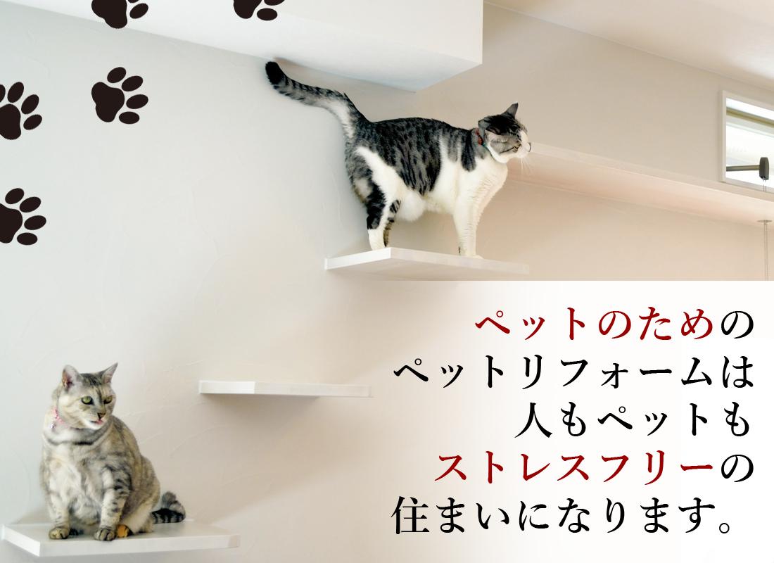 ペットのためのペットリフォームは人もペットもストレスフリーの住まいになります